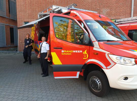 Een nieuwe duikwagen voor de Schotense brandweer